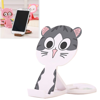 Fit gray lovely cat shape folding design ABS Phone holder