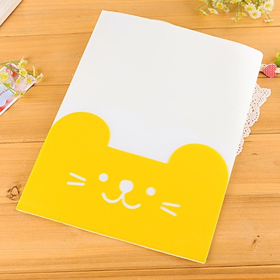 Legal yellow cat pattern simple design PVC Pencil Case Paper Bags