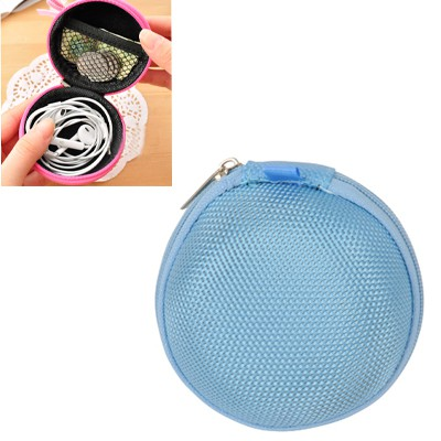Packaging blue multifunctional round shape design nylon Wallet