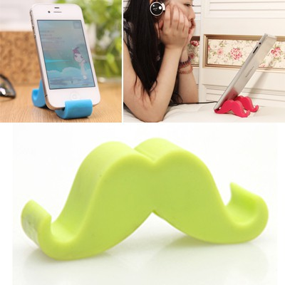 Beauteous green beard shape simple design ABS Phone holder