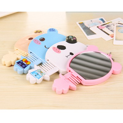 Graduated color will be random cartoon bear shape portable set design ABS Beauty tools