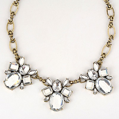 Budget White Gemstone Bee Decorated Design Alloy Bib Necklaces