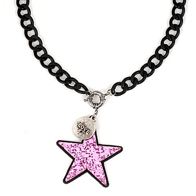 Petite Purple Five-Pointed Star Pendant Design Alloy Chains