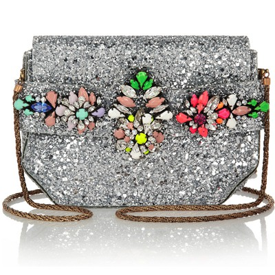 Kids Multicolor Sparkly Diamond Decorated Design PVC Shoulder bags