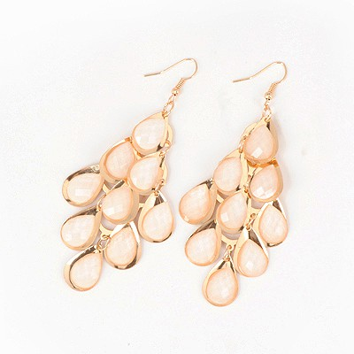 Stylish Gold Color Abstract Peacock Shape Design Alloy Korean Earrings