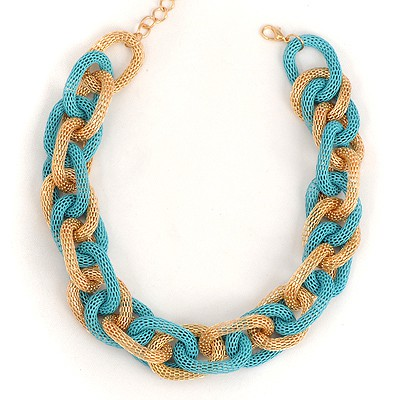 Outdoor Blue Metal Circle Chain Link Design Alloy Chains