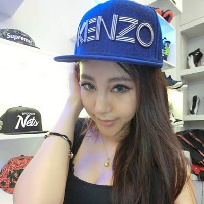 Streamline Blue Embroidery Letters KENZO Design Canvas Baseball Caps