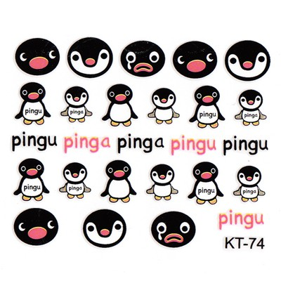 Gothic  3D Cartoon Penguin Design Stickers Nails
