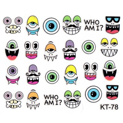 Nameplate  3D Cartoon Eyeball Design