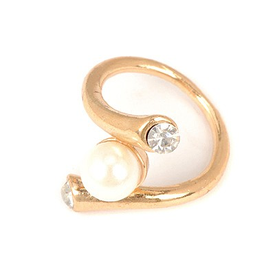 Customized White Horn Shape Design Alloy Korean Rings