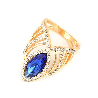 Named Blue Crown Shape Design Alloy Korean Rings