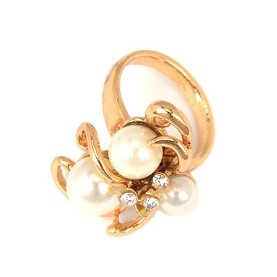 Mechanic White Tentacles Pearl Design Alloy Korean Rings