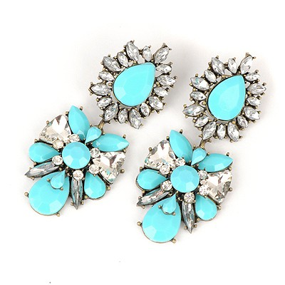 Standard Blue Abstract Butterfly Design Alloy Fashion earrings
