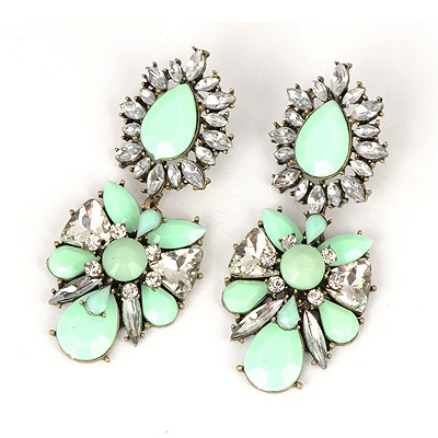 2012 Light Green Abstract Butterfly Design Alloy Fashion earrings