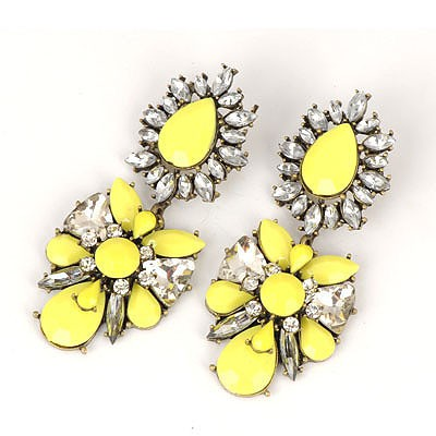 High Waist Yellow Abstract Butterfly Design Alloy Fashion earrings