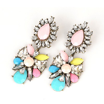 Headrest Multicolor Abstract Butterfly Design Alloy Fashion earrings