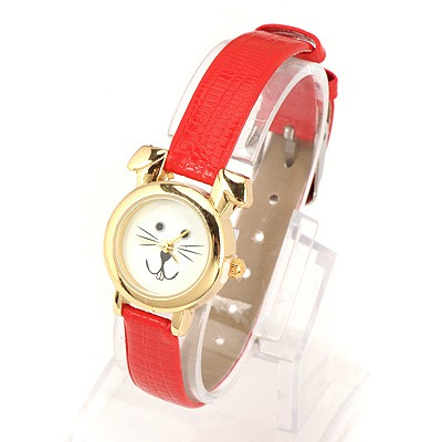 Physical Red Thin Belt Cartoon Rabbit Design