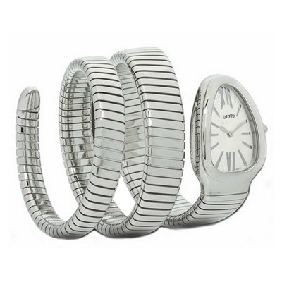 Piercing Silver Color Luxury Snake Shape Design Alloy Fashion Watches