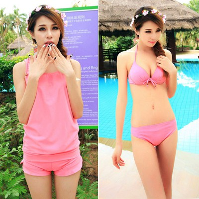 Highwaist Pink Simple Design Conservative