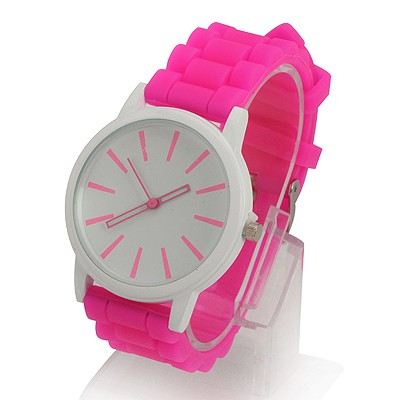 Native Plum Red Jelly Color Simple Design Alloy Ladies Watches