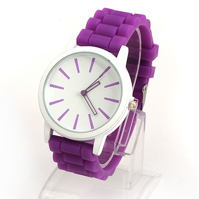 Vintage Purple Jelly Color Simple Design Alloy Ladies Watches