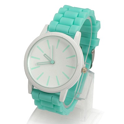 Guardian Green Jelly Color Simple Design Alloy Ladies Watches