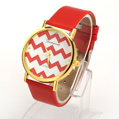 Fingerprin Red Water Ripples Pattern Round Shape Design