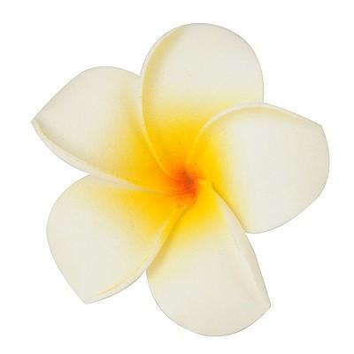 High Big Size White Flower Shape Design Bubble Hair clip hair claw