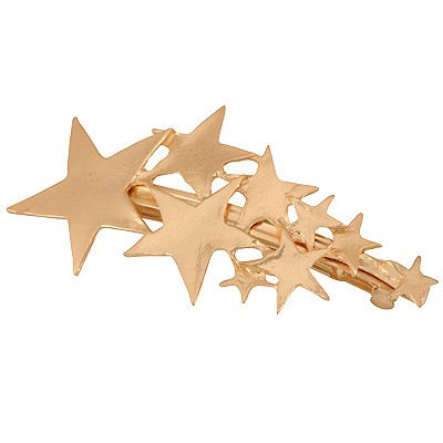 Tapered Gold Color Various Sizes Stars Decorated Alloy Hair clip hair claw