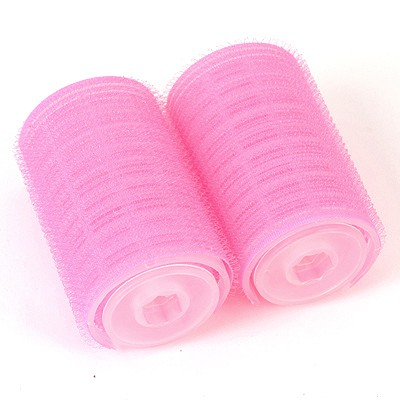 Plussize Plum Red Double Layer Self-Adhesive Bangs Hair Roller Nylon Beauty tools