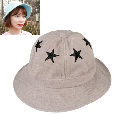 Scrapbooki Gray Five-Pointed Star Decorated Cloth Material Sun Hats