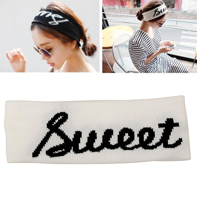 Famale White Word SWEET Elastic Design