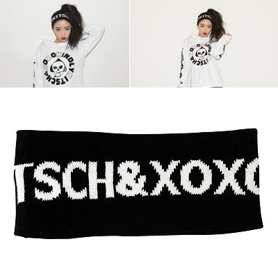 Imitation Black Word KINDLY KITSCH&XOXO Elastic Design Knitting Wool Hair band hair hoop