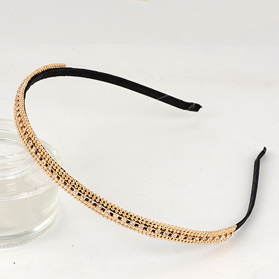 Tie Gold Color Full Of Drill Decorated Alloy Hair band hair hoop