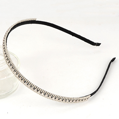 Sheer Silver Color Full Of Drill Decorated Alloy Hair band hair hoop