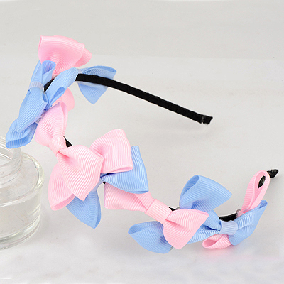 Padded Multicolor Sweet Bowknot Decorated Alloy Hair band hair hoop