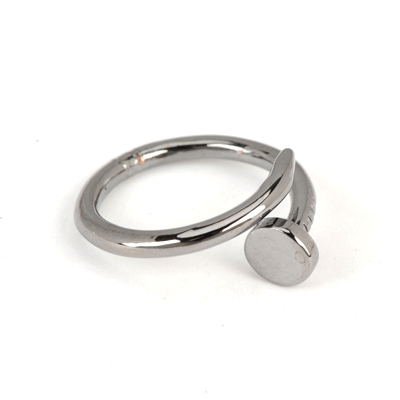 Aluminium Gun Black Good Quality Rivet Shape Simple Design Alloy Korean Rings