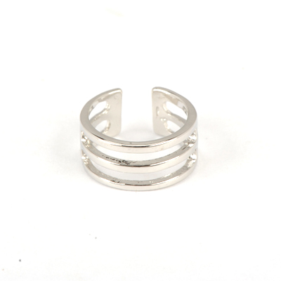 Direct Silver Color Good Quality Hollow Out Three Rows Simple Design