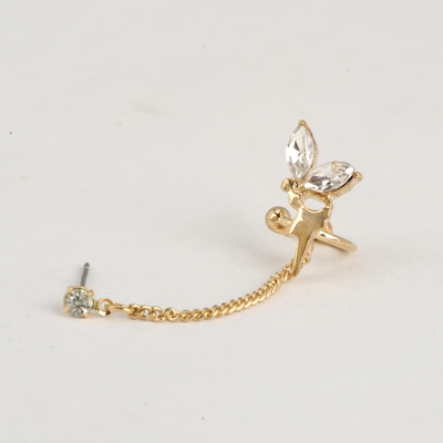 Smart Gold Color Good Quality Metal Angel Design Alloy Stud Earrings