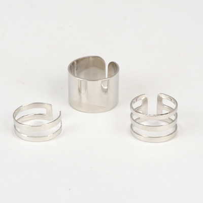 Peterbilt silver  Color Good Quality Metal Combination 3 Pcs In 1 Alloy Korean Rings