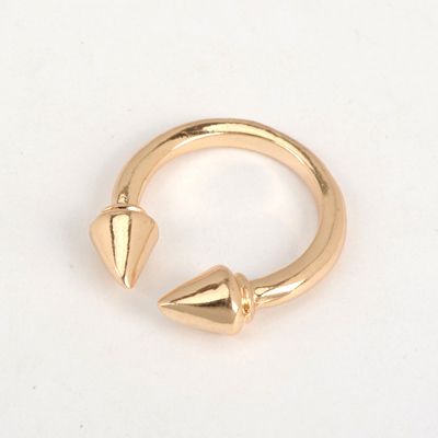 Rebel Gold Color Good Quality Personality Rivet Opening Design Alloy Korean Rings