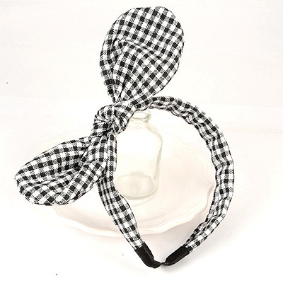 Misses Black And White Bowknot Decorated Simple Design Cloth Hair band hair hoop