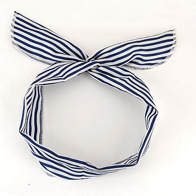 Maternity Blue Thin Stripe Lovely Rabbit Ear Cloth Hair band hair hoop