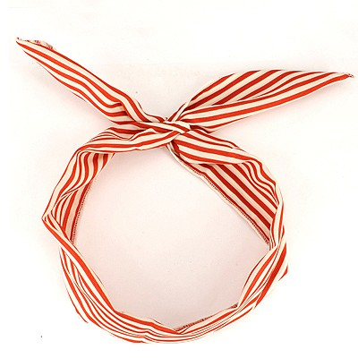 Apparel Red Thin Stripe Lovely Rabbit Ear Cloth Hair band hair hoop