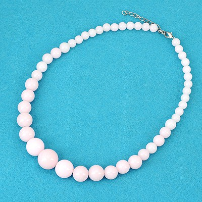 Polaris Pink Bohemia Style Round Beads Simple Design Alloy Beaded Necklaces
