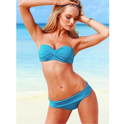 Japanese Blue Push Up Strapless Design