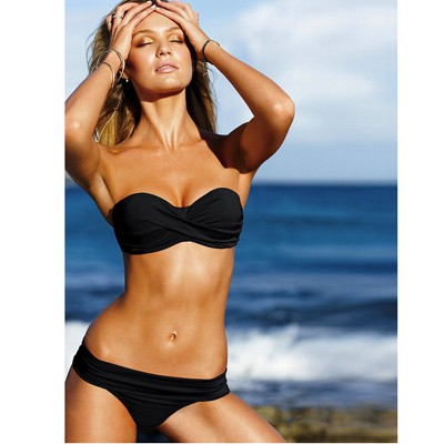 Infinity Black Push Up Strapless Design