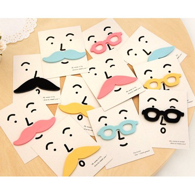 Coral Color Will Be Random cute cartoon beard design Paper Stickers Tape
