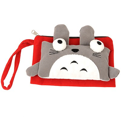 Urban Red cute cartoon cat decorated multifunction design Flannelette Wallet