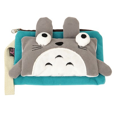 Volcom Blue cute cartoon cat decorated multifunction design Flannelette Wallet